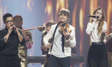 Maria, Alexander Rybak, and Lena