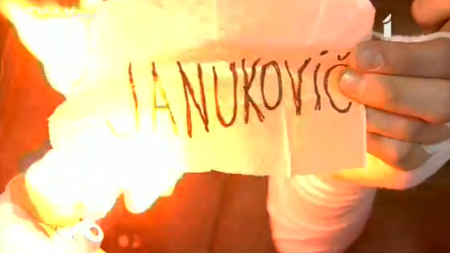 Burning Protest (Picture: LTV)