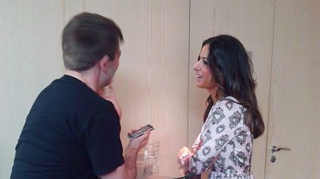 Meeting Zlata Ognevich in a hotel conference room in Riga (Photo: Alison Wren)