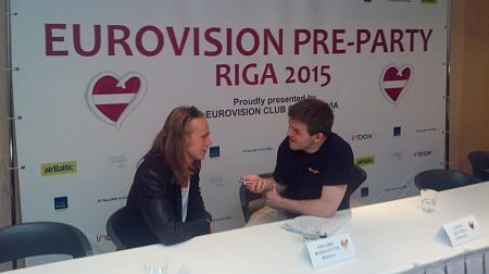 With Eduard Romanyuta representing Moldova in the Eurovision Song Contest 2015 (Photo: Alison Wren)