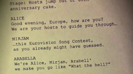 Rhyming Couplets For Eurovision 2015? (image: Gregor Barcal)