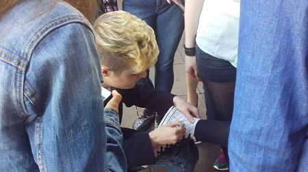 Shoe signing appears to have overtaken shoe shining to be the latest trend (Photo: Ben Robertson)