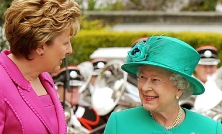 Queen Elizabeth visiting Ireland
