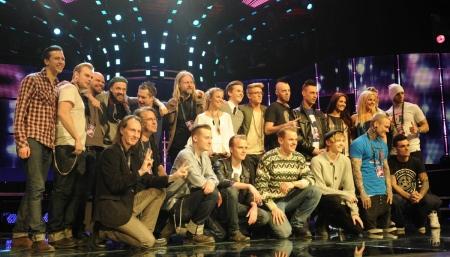 The 2012 Melodifestivalen competitors