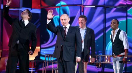 Vladimir Putin at Eurovision 2009