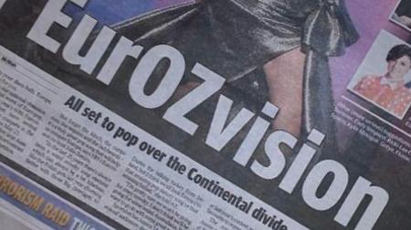 Eurovision Australia Newspaper (image: Sharleen Wright)