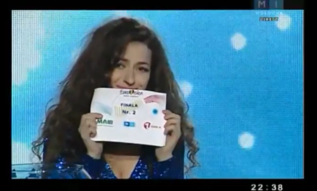 This is the best smile you can conjure when you draw no. 2 in your country's National Final