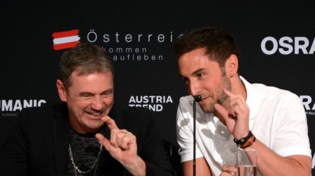 Masn Zelmerlow and Christer Bjorkman (image: Derek Silerud)